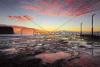 Mona Vale coastal seascape at sunrise