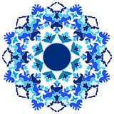 Ottoman motifs design series with sixteen version
