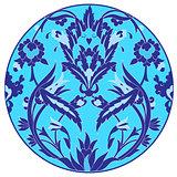 Ottoman motifs design series with twenty one version