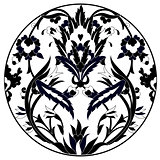 Ottoman motifs design series with twenty one