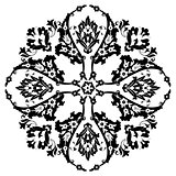 Ottoman motifs design series with twenty-six black