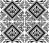 ottoman seamless pattern design black