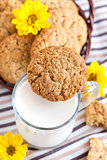 Homemade oatmeal peanut butter cookies