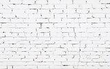Old brick wall with white bricks