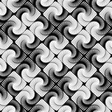 Design seamless vortex strip geometric pattern