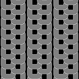 Design seamless monochrome chain geometric pattern