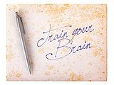 Old paper grunge background - Train your brain