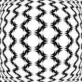 Design monochrome warped grid geometric pattern