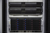 Black rack mounted server tower