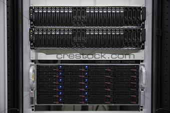 Black rack mounted server tower