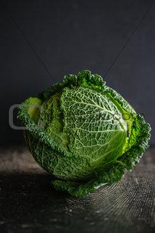 Savoy cabbage.