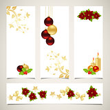 Set of christmas banners