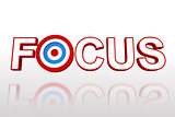 The word focus with target