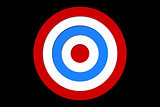 Digitally generated Red and blue target