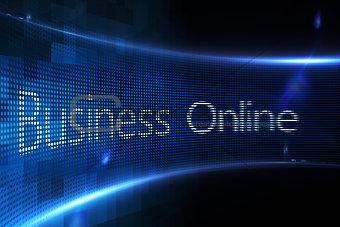 Business online on digital screen