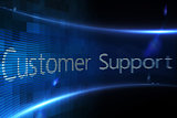 Customer support on digital screen
