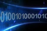 Binary code on digital screen