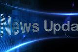 News update on digital screen