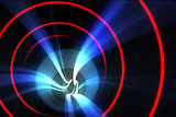 Red spiral with blue light
