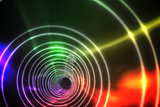 Colorful spiral with bright light