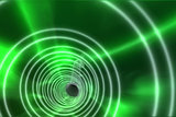 Green spiral with bright light