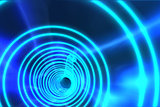 Blue spiral with bright light