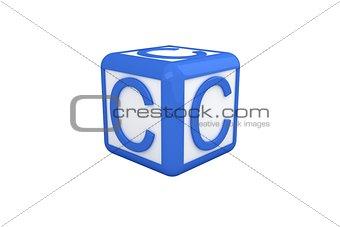C blue and white block