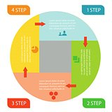 info graphic business circle