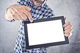 Man with digital tablet computer
