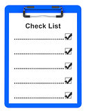 the check list