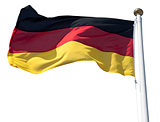 Germany flag on white