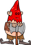 executioner with ax cartoon illustration