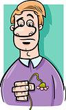 sad man cartoon illustration