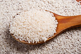 Rice and spoon