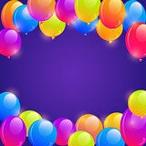 Bright Balloon Frame Background