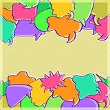 Invitation Card with Speech Bubbles