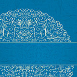 Blue Background with Half Mandala Ornament in the Corner