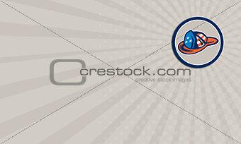 Business card Fireman Hat Helmet USA Stars and Stripes Retro