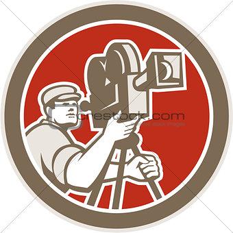 Cameraman Vintage Film Movie Camera Retro