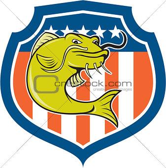 Catfish Angryfish Shield Cartoon