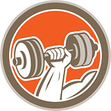 Hand Lifting Dumbbell Circle Retro