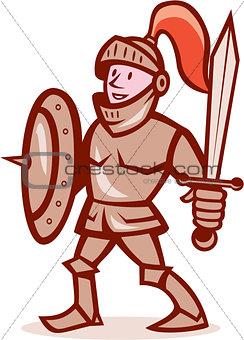 Knight Shield Sword Cartoon