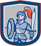 Knight Shield Sword Shield Cartoon
