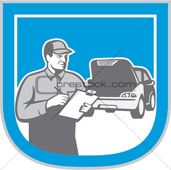 Auto Mechanic Automobile Car Repair Check Retro