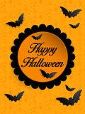 Happy Halloween Ghost Bat Icon Background