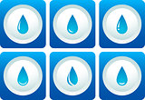 blue water drop set