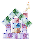 House of euro banknotes