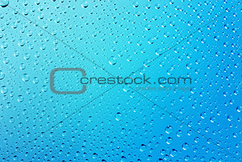 Blue Abstract Water Drops  Background