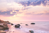 Sea - Sunrise landscape over beautiful rocky coastline