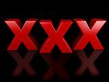 xxx icon on black background